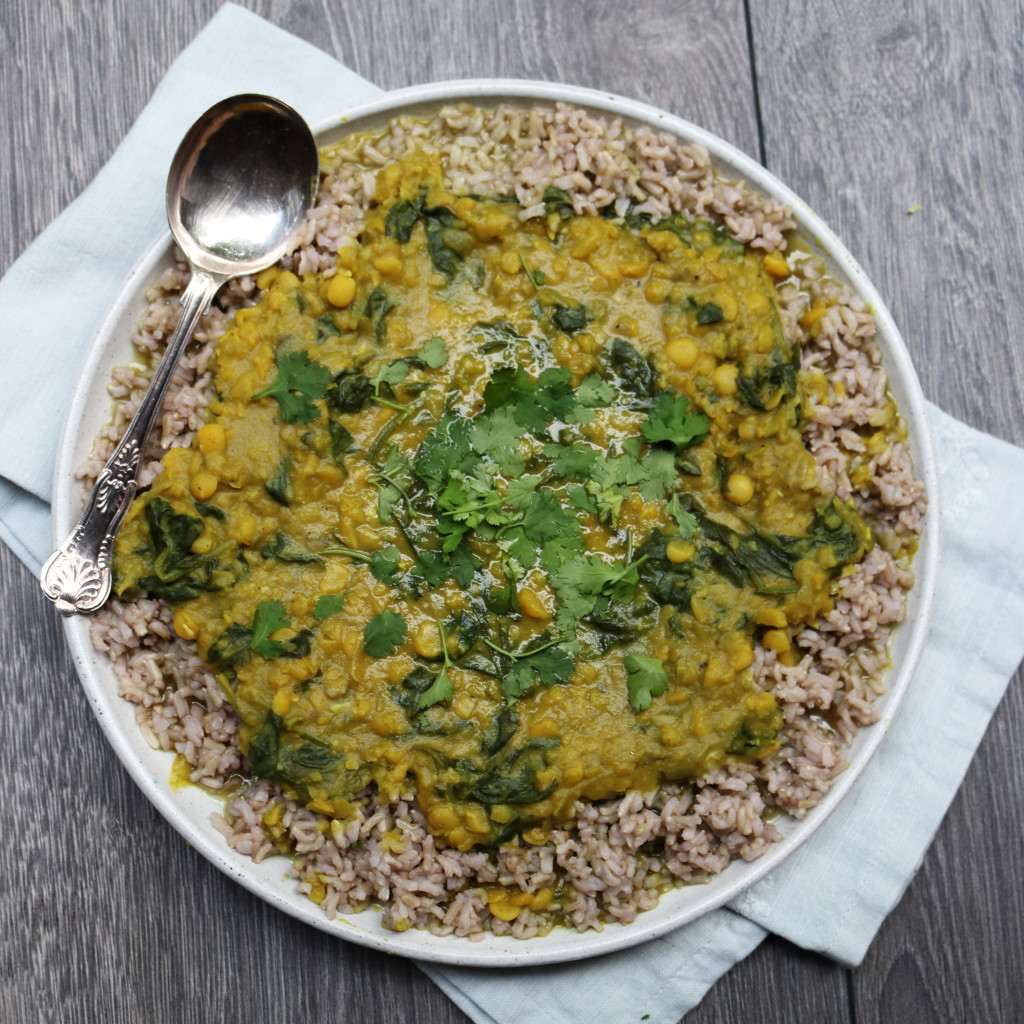 Spinach and Lentil Dhal
