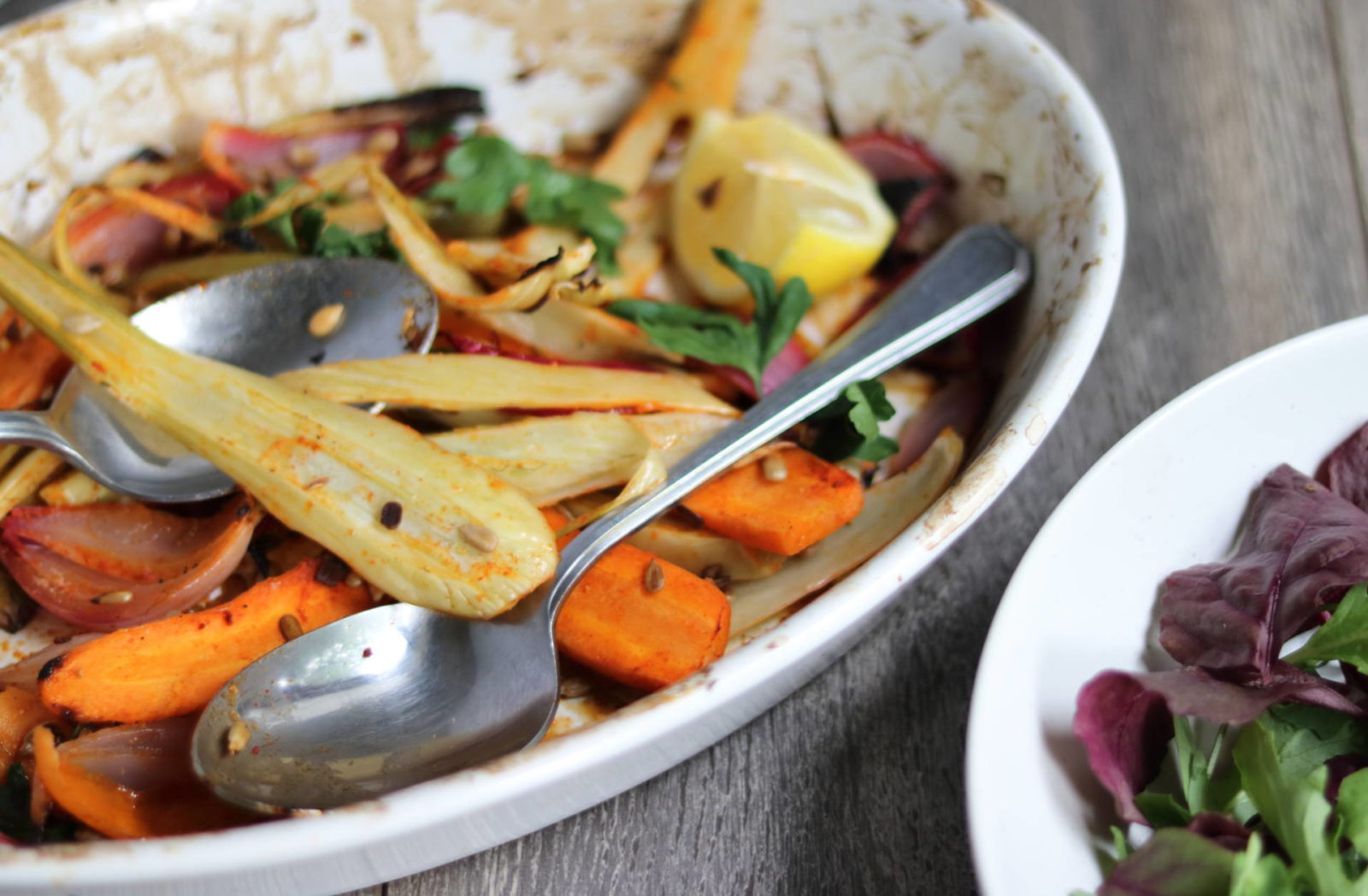 Roasted Fennel, Carrot and Red Onion Salad